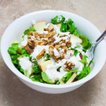 Apple Walnut Salad with Creamy Lemon Dressing